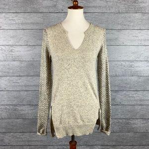 Rebecca Taylor Cashmere Blend Zip Sweater Sz S